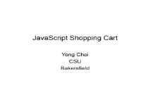 JavaScript Shopping Cart PowerPoint Presentation