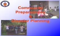 Community Preparedness and Disaster Planning PowerPoint Presentation
