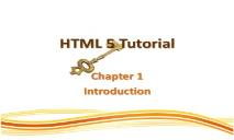 HTML 5 Tutorial PowerPoint Presentation