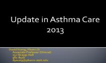Asthma Pharmacology Update PowerPoint Presentation