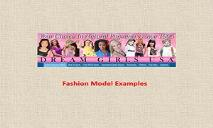 Fashion Model Examples PowerPoint Presentation