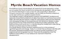 Myrtle Beach Vacation Homes PowerPoint Presentation