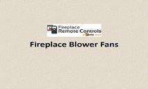 Fireplace Blower Fans PowerPoint Presentation