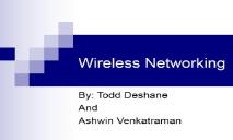 Wireless Networking PowerPoint Presentation