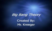 Big Bang Theory Wikispaces PowerPoint Presentation