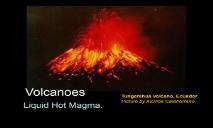 Volcanoes PowerPoint Presentation