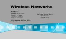 Wireless Networks PowerPoint Presentation