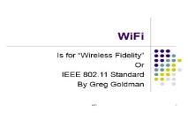 WiFi (Khirman) PowerPoint Presentation