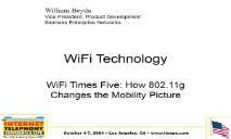 WiFi Technology PowerPoint Presentation