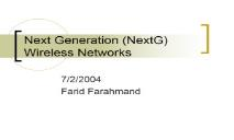 Next Generation (NextG) Wireless Networks PowerPoint Presentation