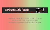 Christmas Ships 2012 PPT PowerPoint Presentation