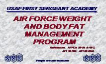 AIR FORCE WEIGHT AND BODY FAT MANAGEMENT PROGRAM PowerPoint Presentation