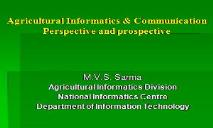 Indian Agriculture(DACNET - A GATEWAY TO DIRECTORATE) PowerPoint Presentation
