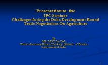 Agriculture in India PowerPoint Presentation