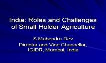 How to Revive Indian Agriculture PowerPoint Presentation