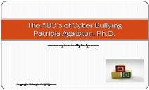 The ABCs of Cyber Bullying PowerPoint Presentation