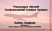 Passenger Aircraft Environmental Control System PowerPoint Presentation