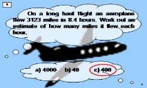 On a long haul flight an aeroplane flew 3123 miles in 84 PowerPoint Presentation