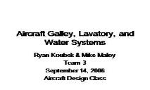 Aircraft Galley Lavatory and Water Systems PowerPoint Presentation
