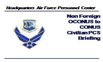 AFPC CC Approved Template - Air Force Civilian Careers PowerPoint Presentation