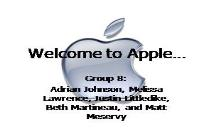 Welcome to Apple PowerPoint Presentation