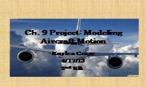 Modeling Aircraft Motion PowerPoint Presentation
