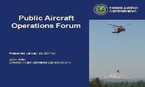 FAA Public Aircraft Policy PowerPoint Presentation