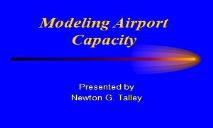 Airport Capacity and Delay PowerPoint Presentation