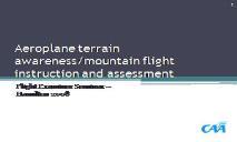 Aeroplane terrain awareness PowerPoint Presentation