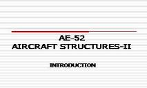 AIRCRAFT STRUCTURES PowerPoint Presentation
