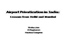 Airport Privatization PowerPoint Presentation