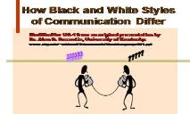 Black and White Styles of Communictaion in Conflict PowerPoint Presentation
