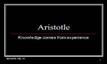 Aristotle Intro PowerPoint Presentation