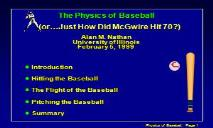 Baseball (Its Not Nuclear Physics) PowerPoint Presentation