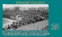 Baseball Monopoly PowerPoint Presentation