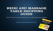 Reiki And Massage Table Shopping Guide PowerPoint Presentation