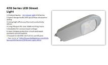 Leiqiong LED Street Light Cob Series Product PowerPoint Presentation