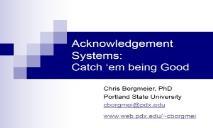 Acknowledgement System PowerPoint Presentation