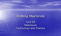 Drilling Machine PowerPoint Presentation