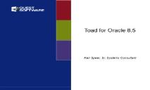 Sales Training Toad for Oracle SQL Navigator PowerPoint Presentation