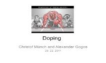 About Doping PowerPoint Presentation