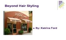 Beyond Hair Styling PPT PowerPoint Presentation