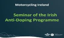 Consequences of not adhering to Anti Doping Procedures PowerPoint Presentation