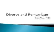 Divorce and Remarriage University of Missouri Extension PowerPoint Presentation