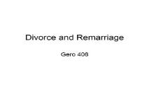 Divorce and Remarriage Simon Fraser University PowerPoint Presentation