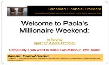 Canadian Financial Freedom PowerPoint Presentation