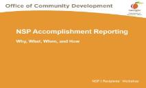NSP Accomplishment Reporting Georgia Department PowerPoint Presentation