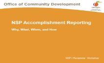 NSP Accomplishment Reporting Georgia Department PowerPoint Presentation