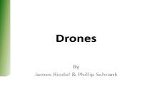 Drones Department of Computer Science Texas State University PowerPoint Presentation