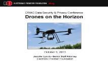 Drones on the Horizon PowerPoint Presentation